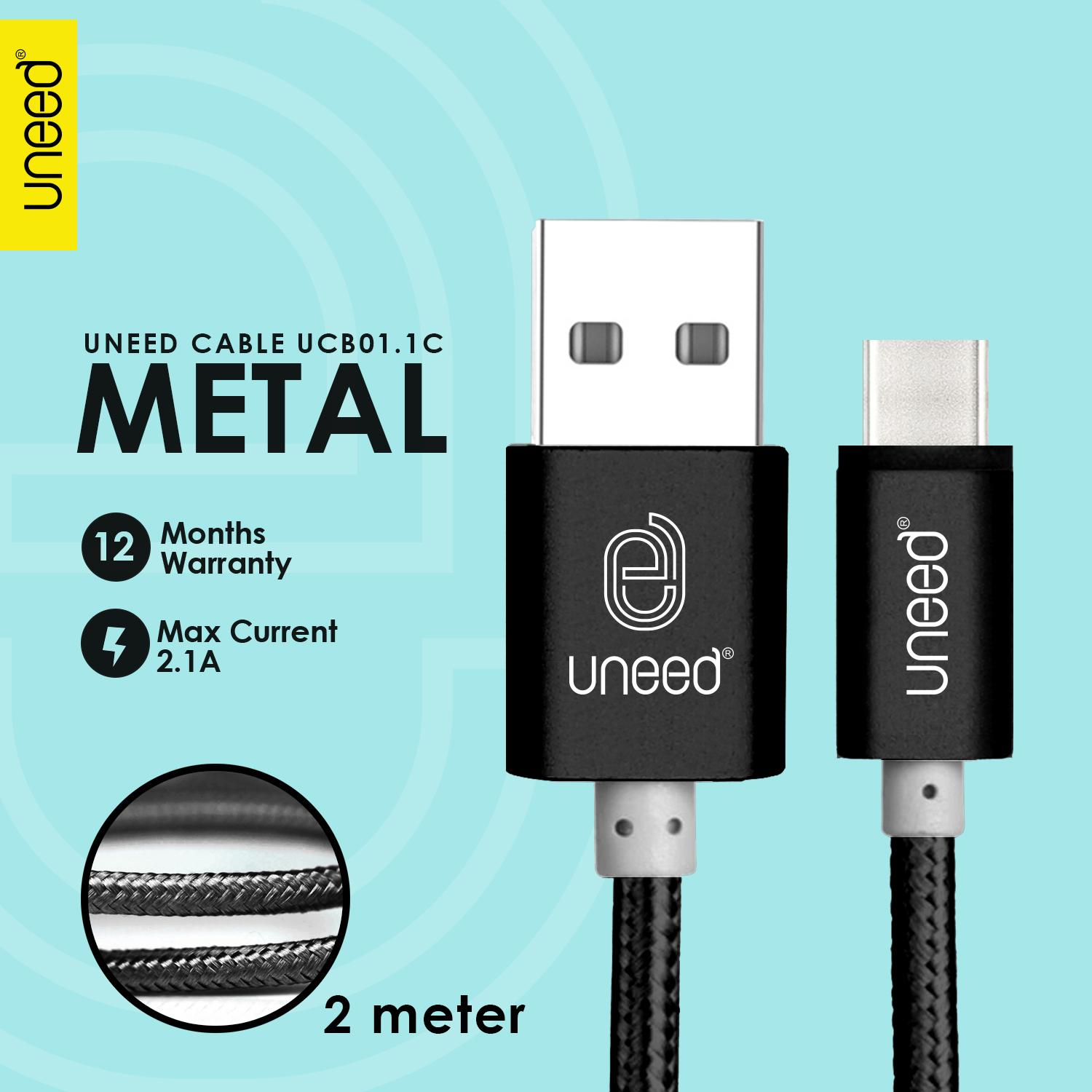 Kabel Charger Data Smartphone Iphone 4 Flat Wellcomm Hitam Uneed Nylon Type C 2m Max Current 21a Ucb011c