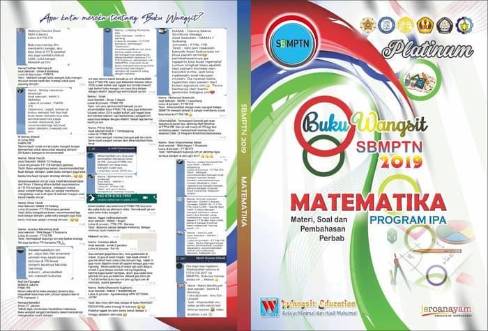 Buku Wangsit Sbmptn 2019 Matematika Ipa Dan Dasar By Blamosk Shop.