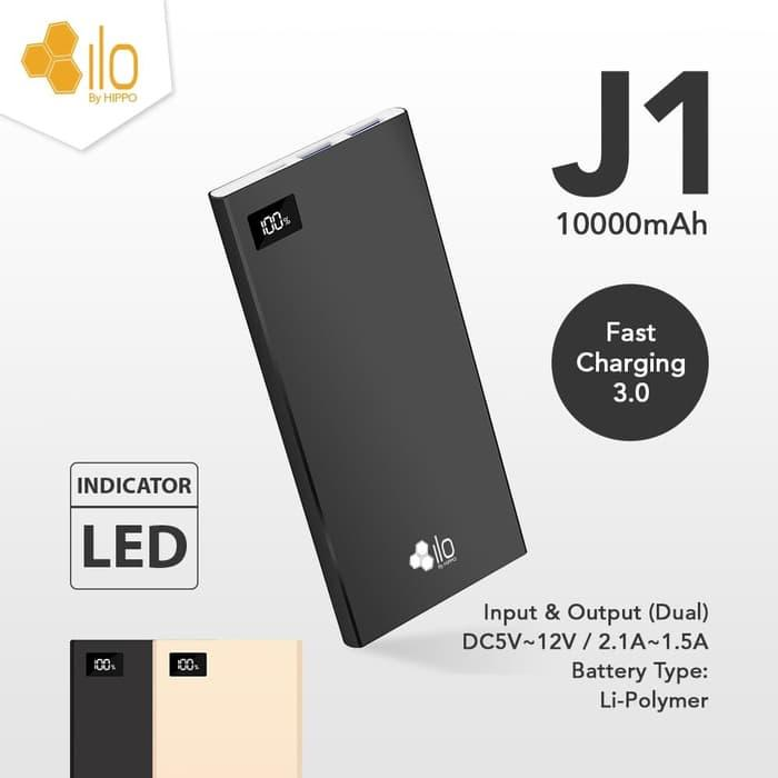 Powerbank Hippo ILO J1 LED 10000mAh power bank pb