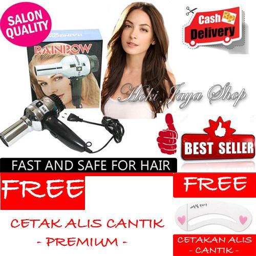 HOKI COD - Rainbow Hair Dryer - Hairdryer Pengering Rambut Premium Quality Salon + Gratis Cetak Alis Cantik - Premium