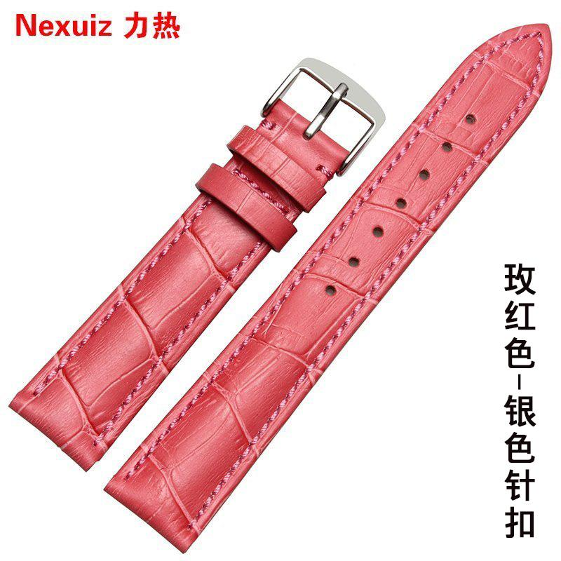 Kulit asli tali jam tangan wanita merah mawar berlaku MK2499 TITUS CALUOLA Tali jam tangan 14 16 18 20mm