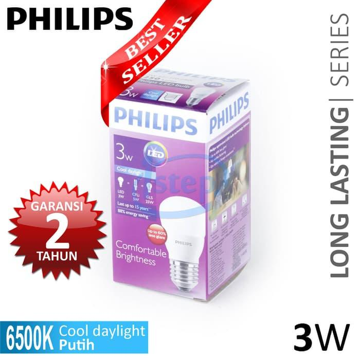 Promo Lampu LED Philips 3W Putih 3 W Watt 3Watt original