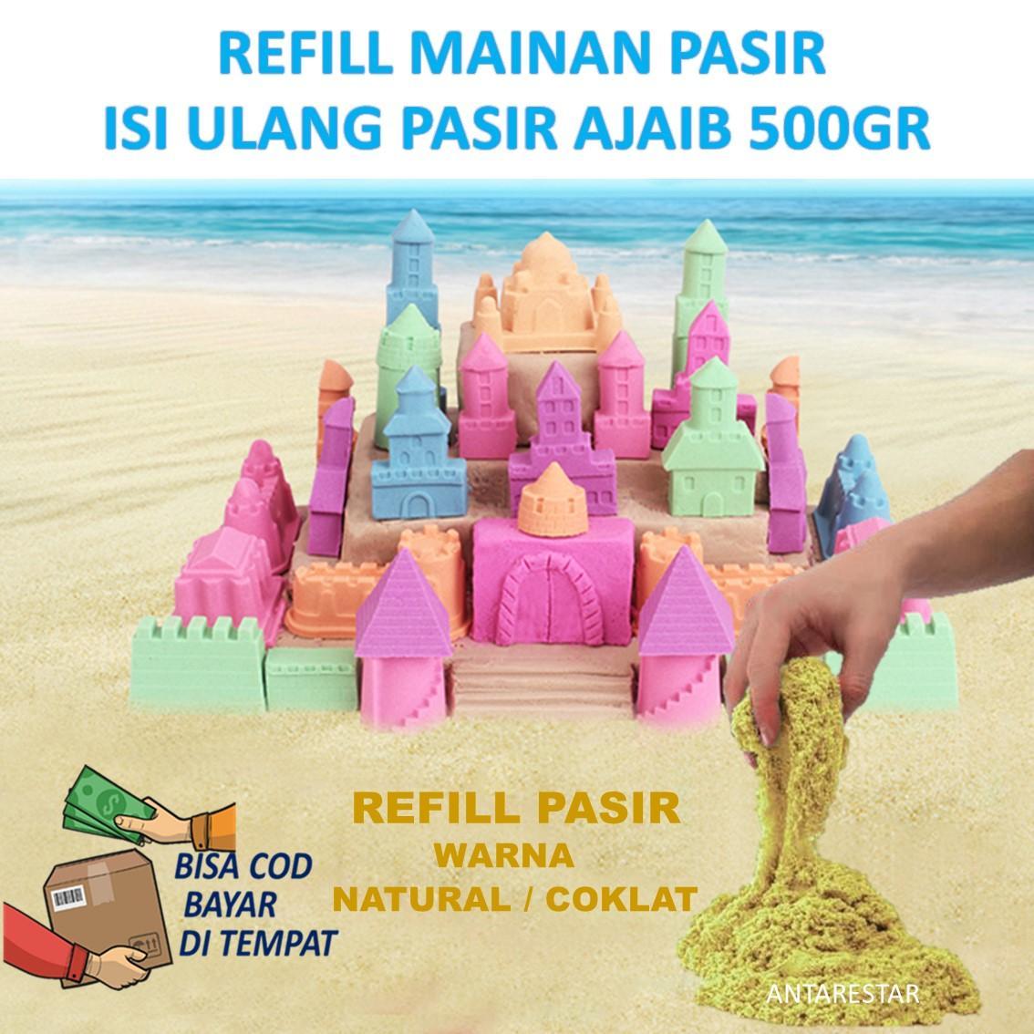 Obral Refill Pasir Ajaib Model Magic Play Sand 500gr Murah