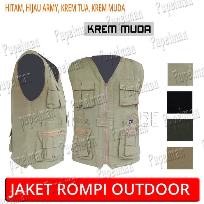 Jaket rompi army outdoor tentara polisi keren motor mancing safety hunting touring memancing rider banyak kantong
