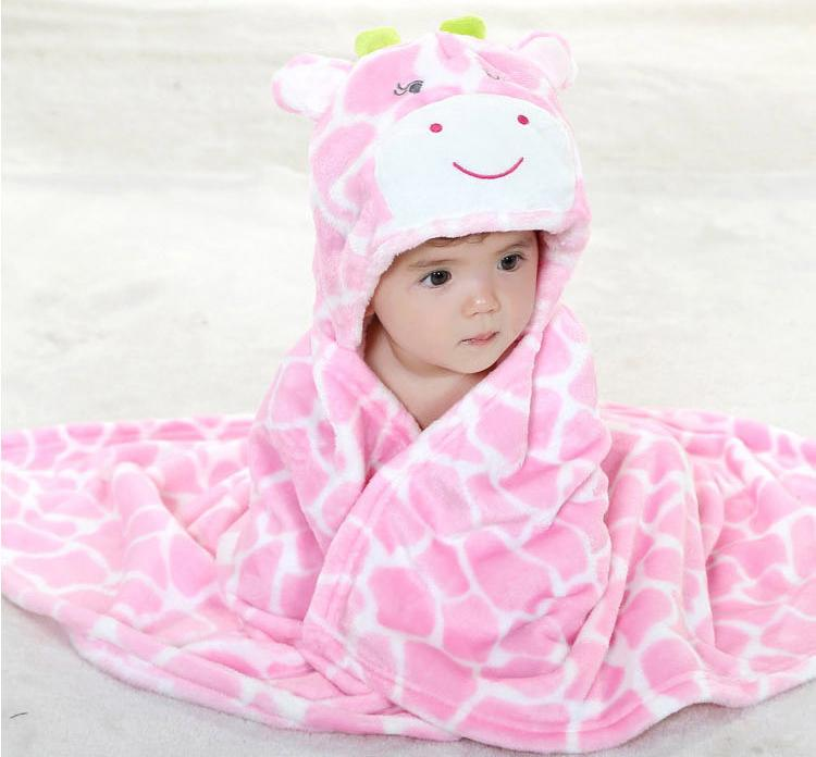 Selimut Topi Carter's Double Fleece Selimut Hoodie Bulu Bayi 3D Hoodie Blanket Tudung