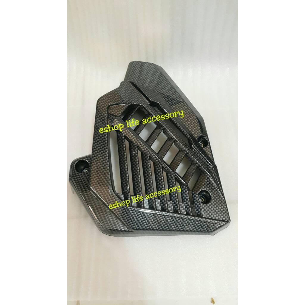 Tutup Cover Pelindung Knalpot Vario 125 Fi 150 Motifcarbon Radiator Carbon Bukan Cvt Led