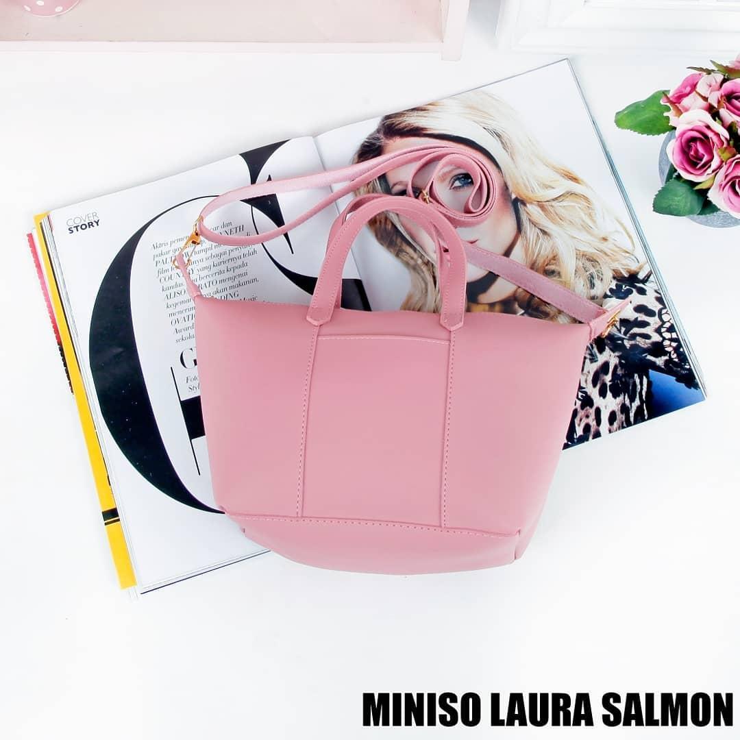 Ubay Shop - Tas Wanita Miniso Bis Tote Bag Bisa Selempang Tas 2 in1 Multi
