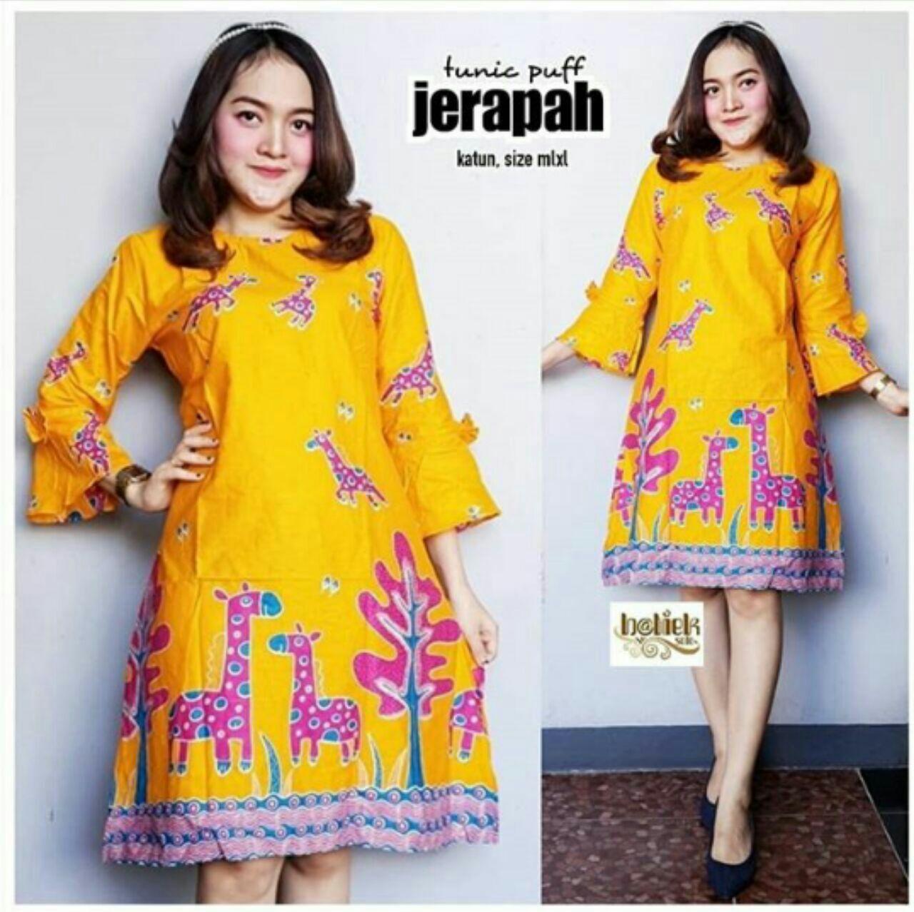 Atasan Wanita Tunik Batik Atasan Batik Wanita Baju Batik Kerja Seragam  Kantor 131731a048