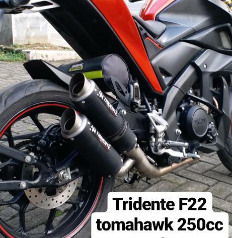 Knalpot 3 Suara Tridente F22 Tomahawk 250cc 1 Cylinder Full System