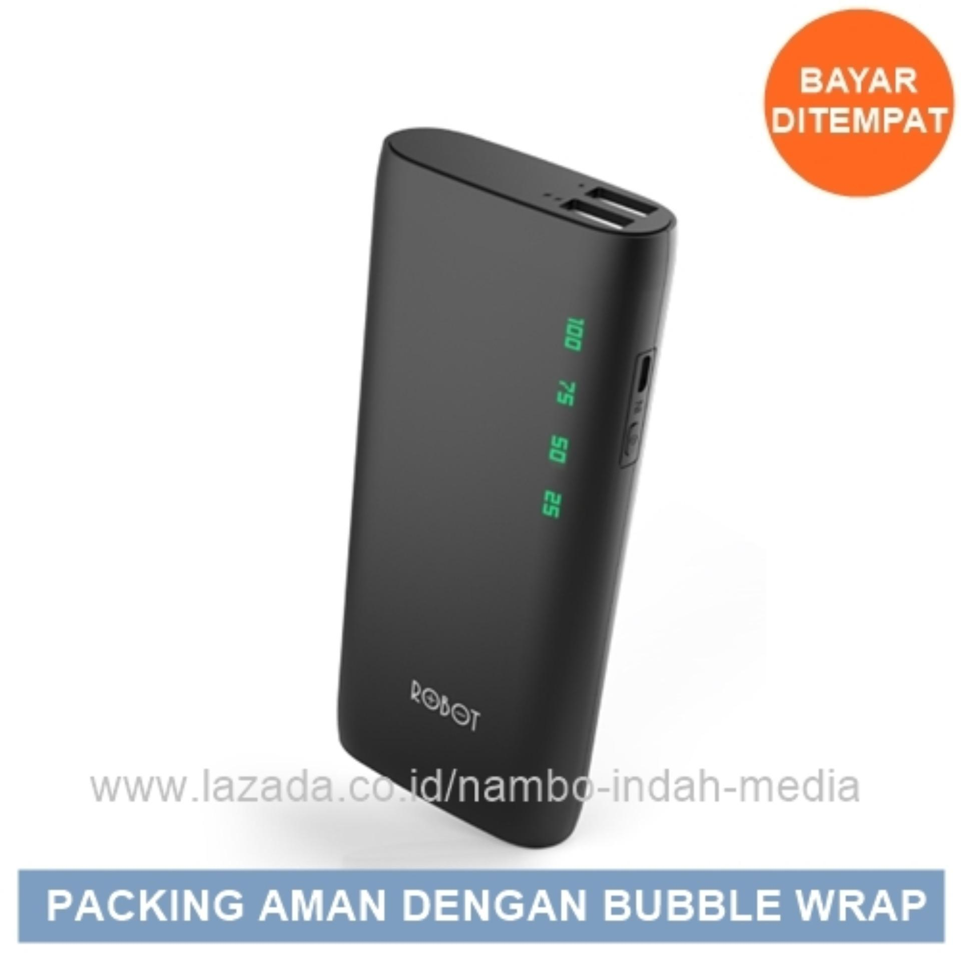 Vivan Powerbank ROBOT RT130 Kapasitas 10.000mAh Dual Usb - Original 100% - Hitam