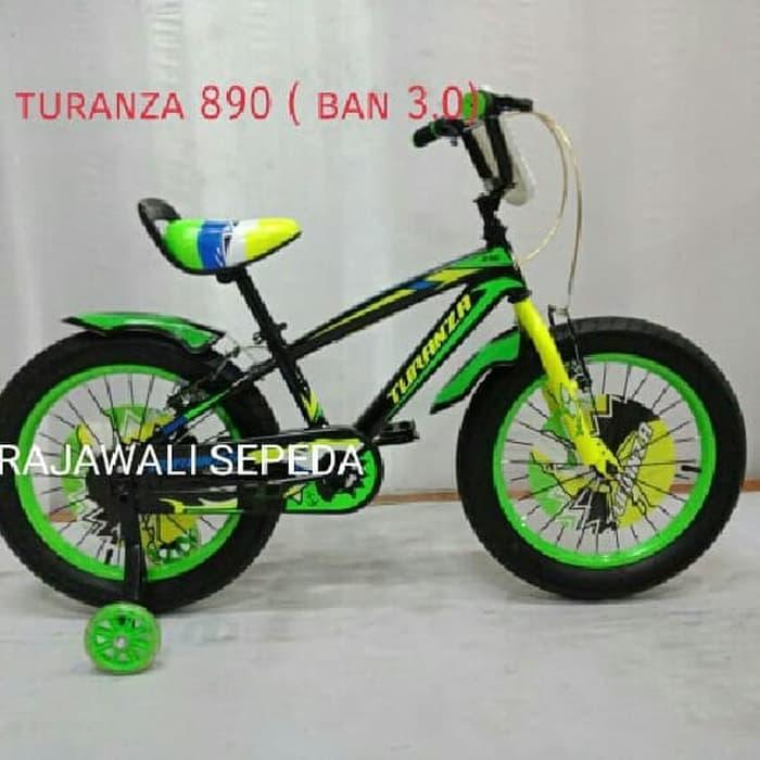 sepeda anak 16 bmx TURANZA 890( 3.0 )ban besar karakter