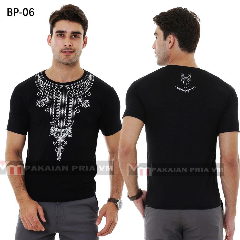VM Baju Koko Muslim Black Panther size kecil to JUMBO BIG Size XXL