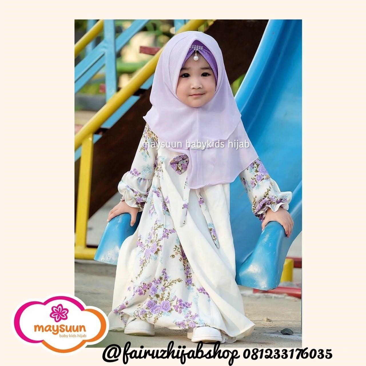 Fairuz Hijab,TERBARU !! Baju Gamis Anak Perempuan Syari, Busana Muslim Anak Modern Online Usia 5 - 6 Tahun