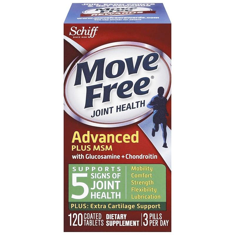 Schiff Move Free Joint Health Glucosamine Chondroitin Plus MSM - 120 Coated Tablets
