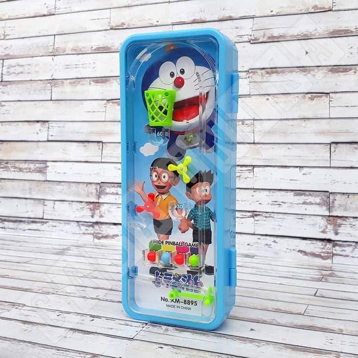 TERBARU!!!! Doraemon KM8895 - Kotak Tempat Pensil Anak Mainan Pinball