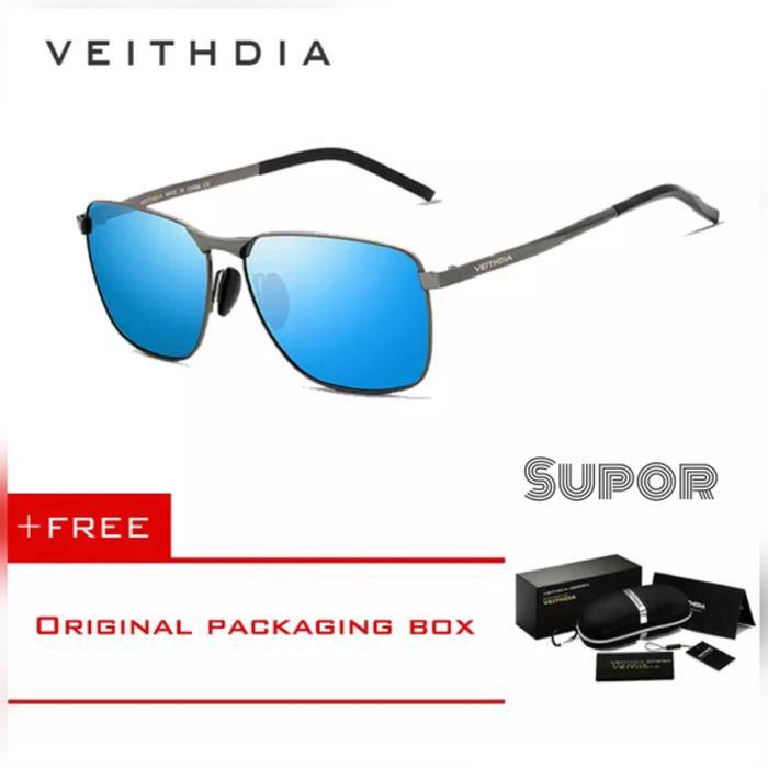 Kacamata Hitam Veithdia AV02 ORI Polarized Sunglass Rayban Polaroid