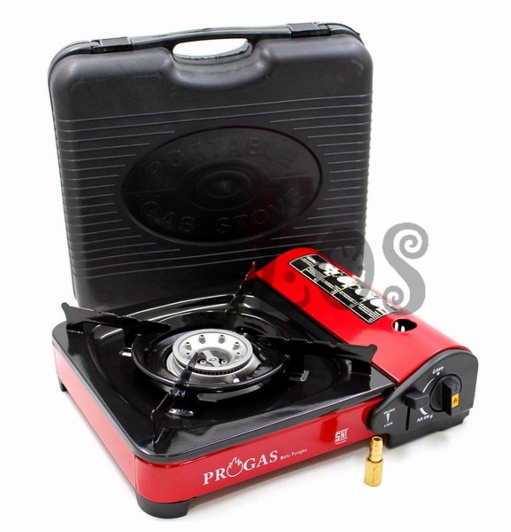 Kompor Gas LPG Portable progas  Anti Karat Import Terbaru bisa gas tabung bisa gas LPG 2ind1