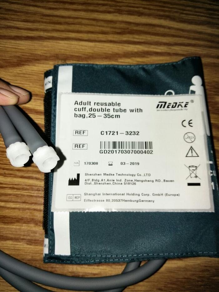 Kode :C1721-3232 MEDKE Manset /NIBP Cuff Double Hose  for Adult/Dewasa