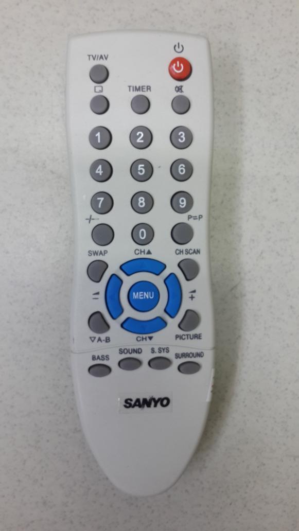 Remote TV tabung Sanyo
