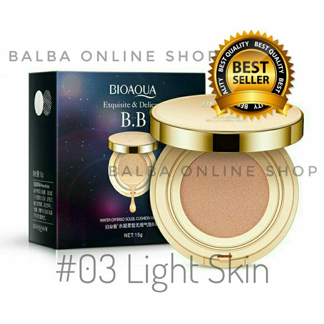 Bioaqua Exquisite and Delicate BB Cream Air Cushion Pack Gold Case SPF 50+++ [#03 Light Beige]