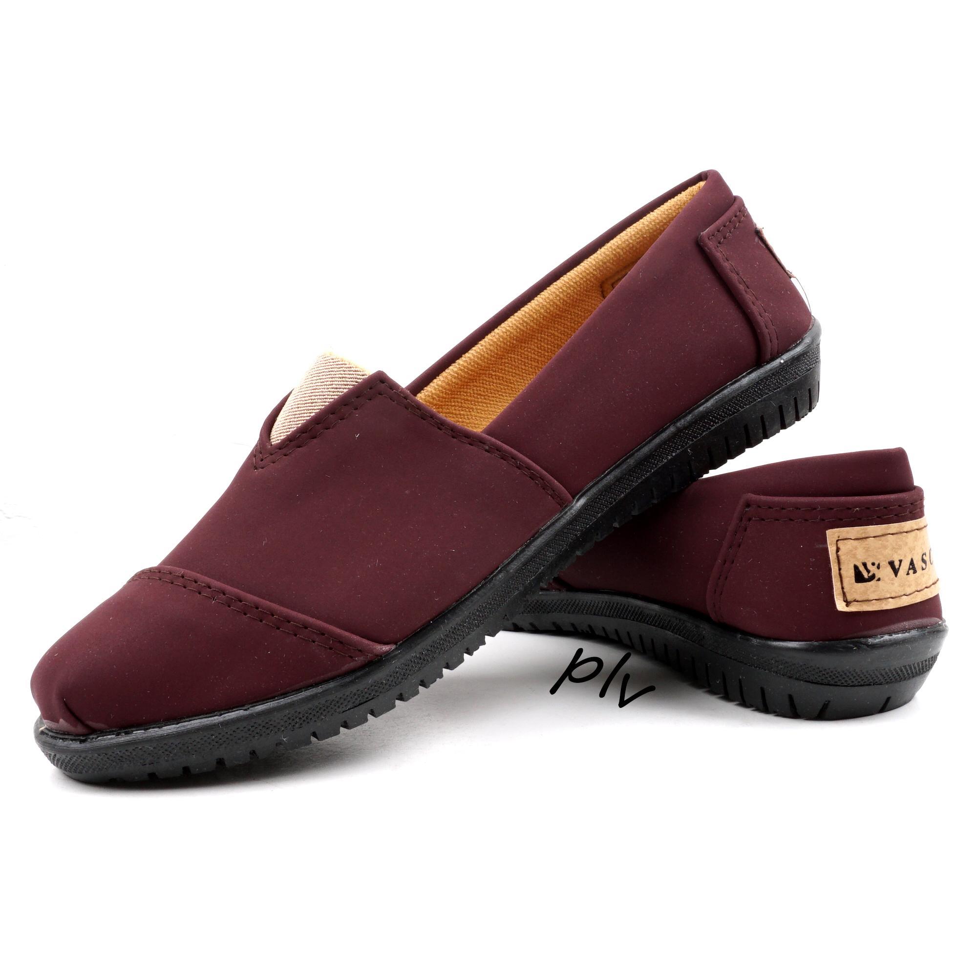 Pluvia - Vasco Sepatu Flat Shoes Slip On Wanita Toms - Maroon