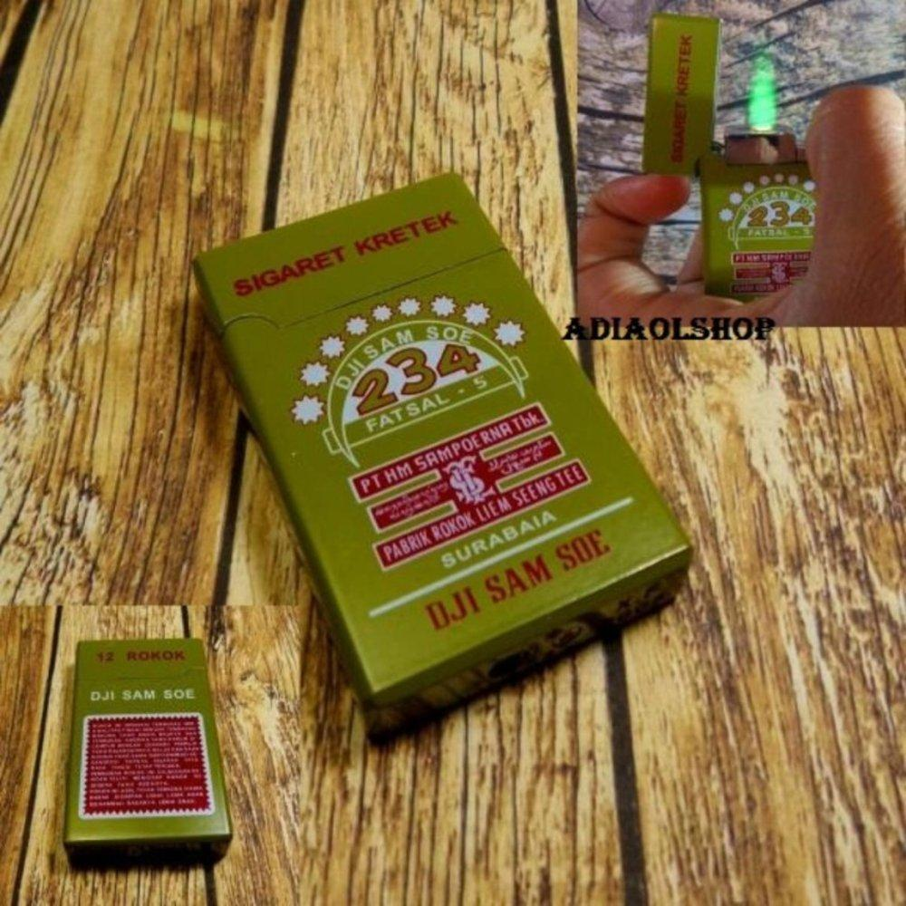 Harga Jual Kotak Rokok Brand Djie Sam Soe Hitam 25000 Gold Dji Isi 12 1slop Korek Api Original Lighter Mancis