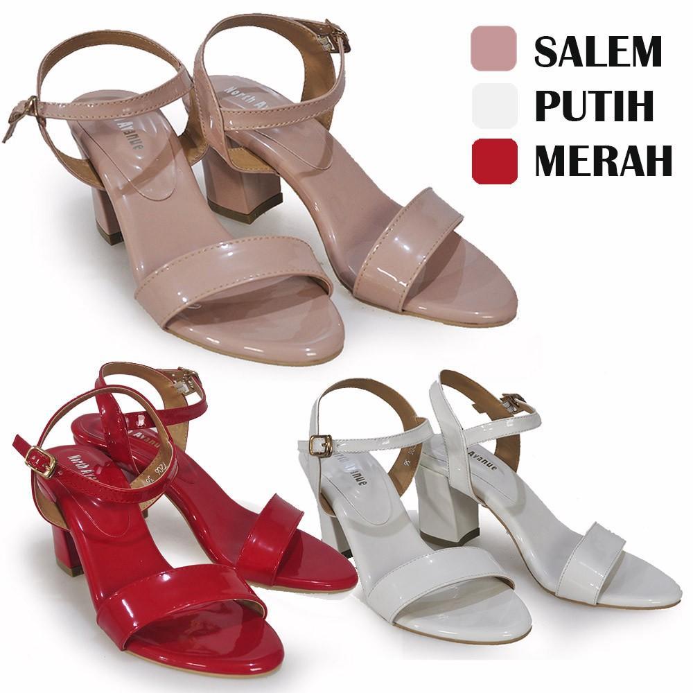 Sepatu Sandal Wanita Heels 7206 By North Avenue Variasi SALEM 40