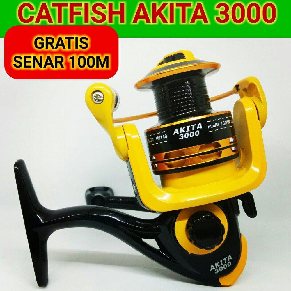 REEL AKITA CATFISH 3000 8BB YELLOW - FREE SENAR - REEL PANCING 3000 SERIES di lapak Andree Fishing or BFG andree_alivio