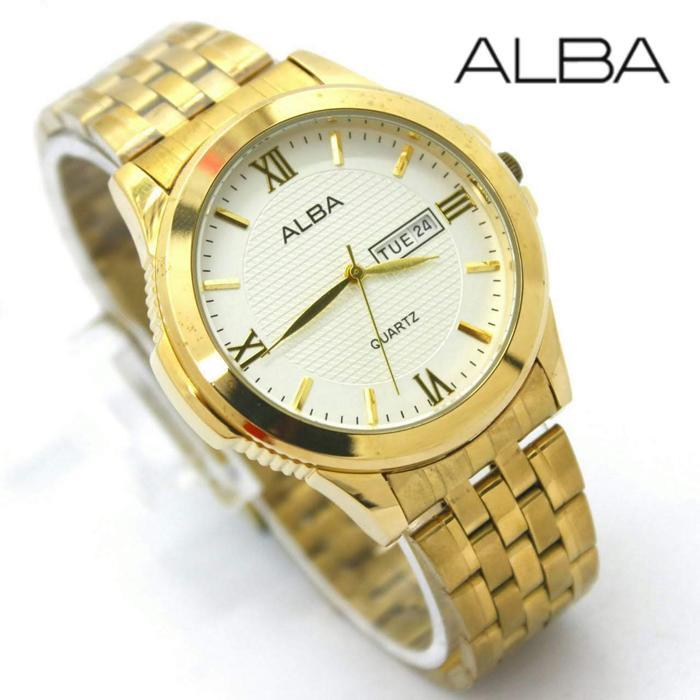 ALBA jam tangan pria *** Free baterai sonny 1 lembar