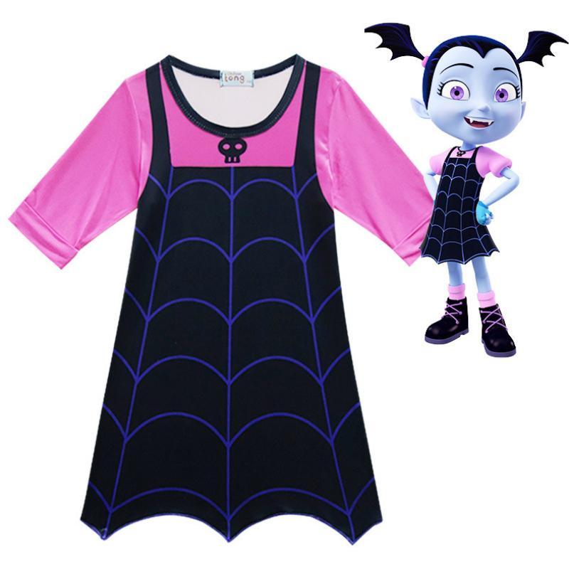 Baru Vampirina Dresses untuk Gadis Anak Gaun Pesta Cosplay Kostum Karnaval Anak-anak Pakaian Cosplay