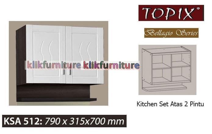 Ksa 512 Topix Kitchen Set Atas 2 Pintu Bellagio - ready