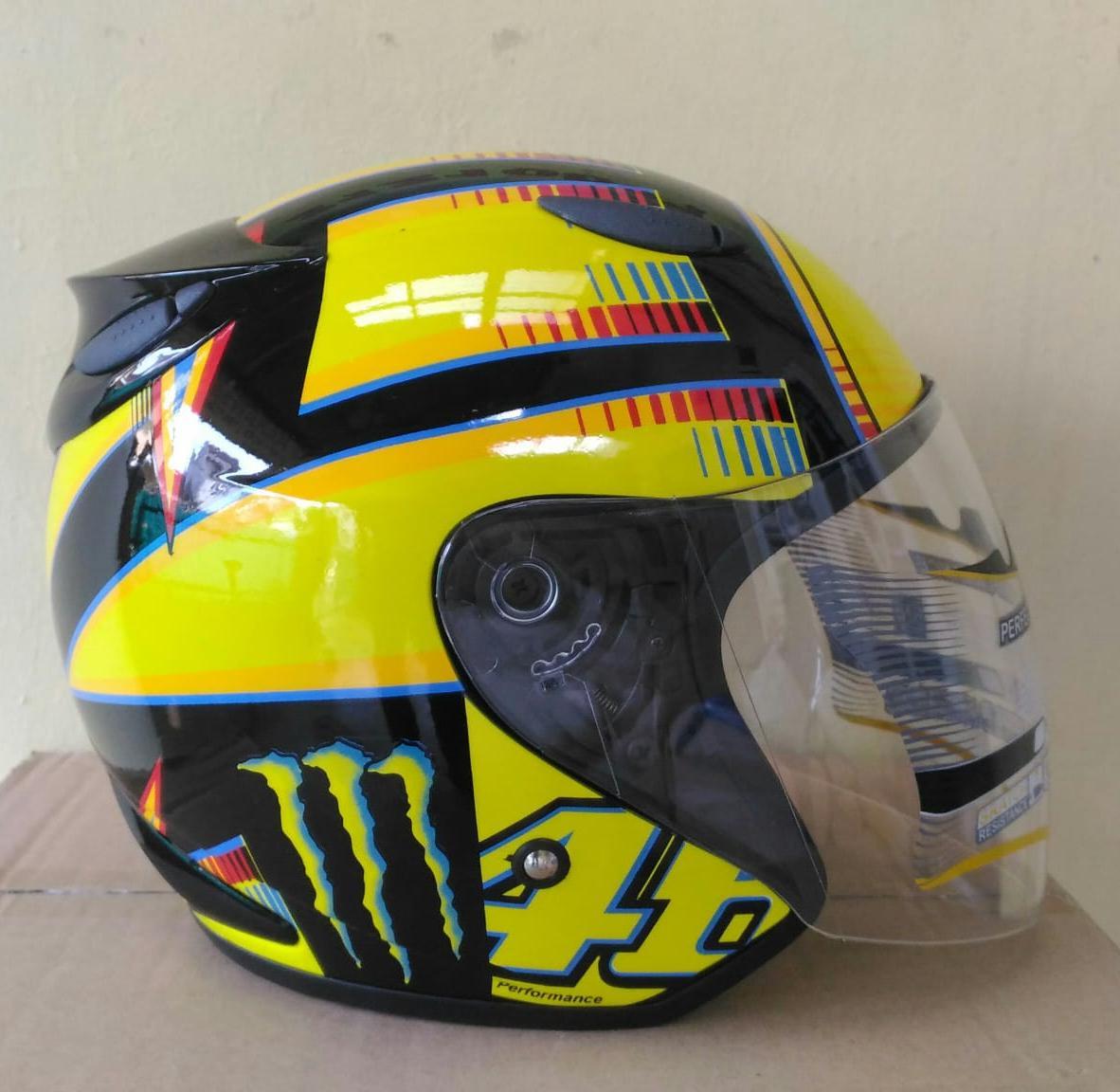 Helm Custom Replika Basic INK Centro Kuning Moto GP Series (Harga PROMO) - SNI