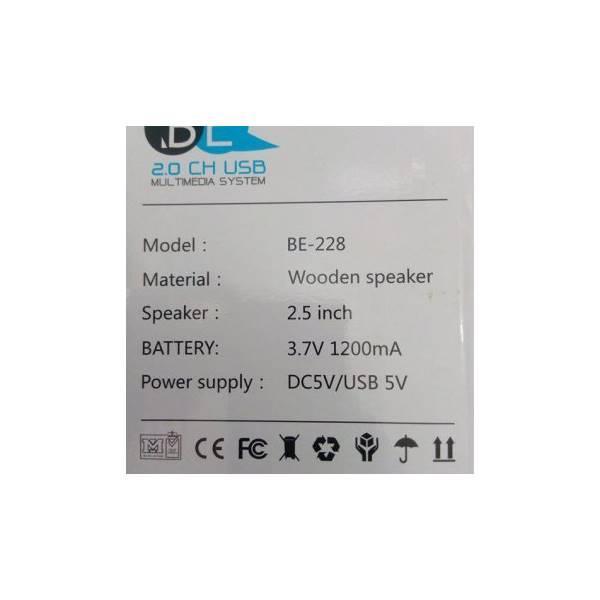Hot Promo Unik Speaker Aktif Wooden BE228   Bukan Salon Bluetooth Bose Beats Jbl Berkualitas