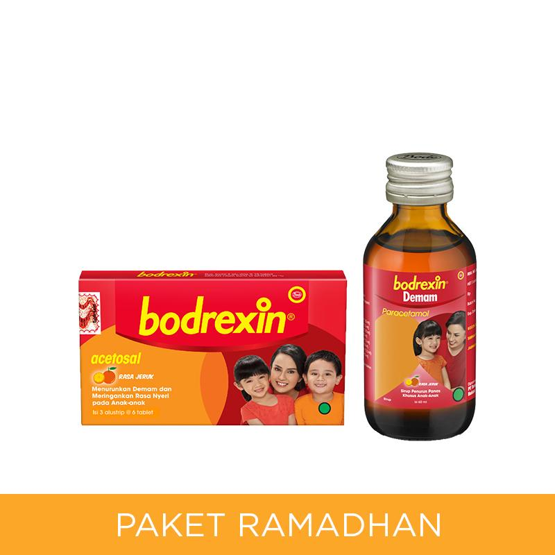 Bodrexin Obat Demam Anak Sirup [60 mL] dan Tablet [1 Folding Box]