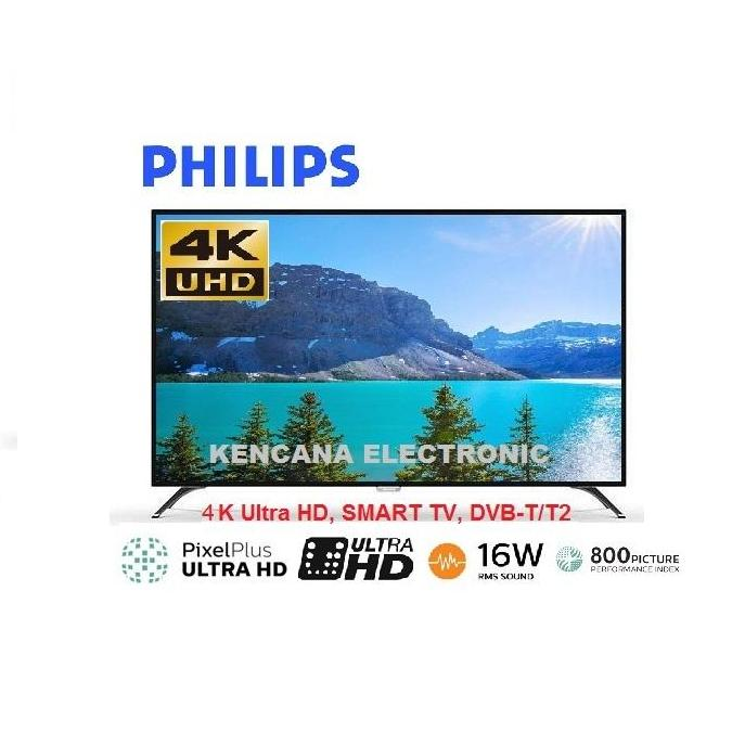 PHILIPS 50PUT6002S -4K ULTRA HD -LED SMART TV DIGITAL TV DVB-T T2 -50 INCH - Khusus JABODETABEK
