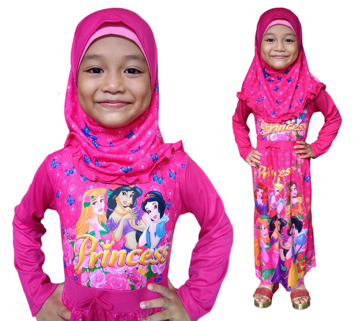 Baju Muslim Gamis Dress Anak Princess PRBD050418