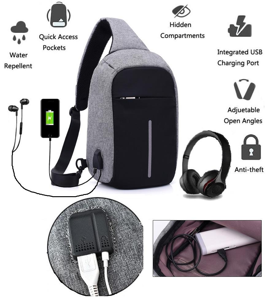The Cheapest Price Tas Slempang Crossbody Waistbag Sling Bag Key Waist Fila Keren Import Anti Maling Usb Dan Earphone Port