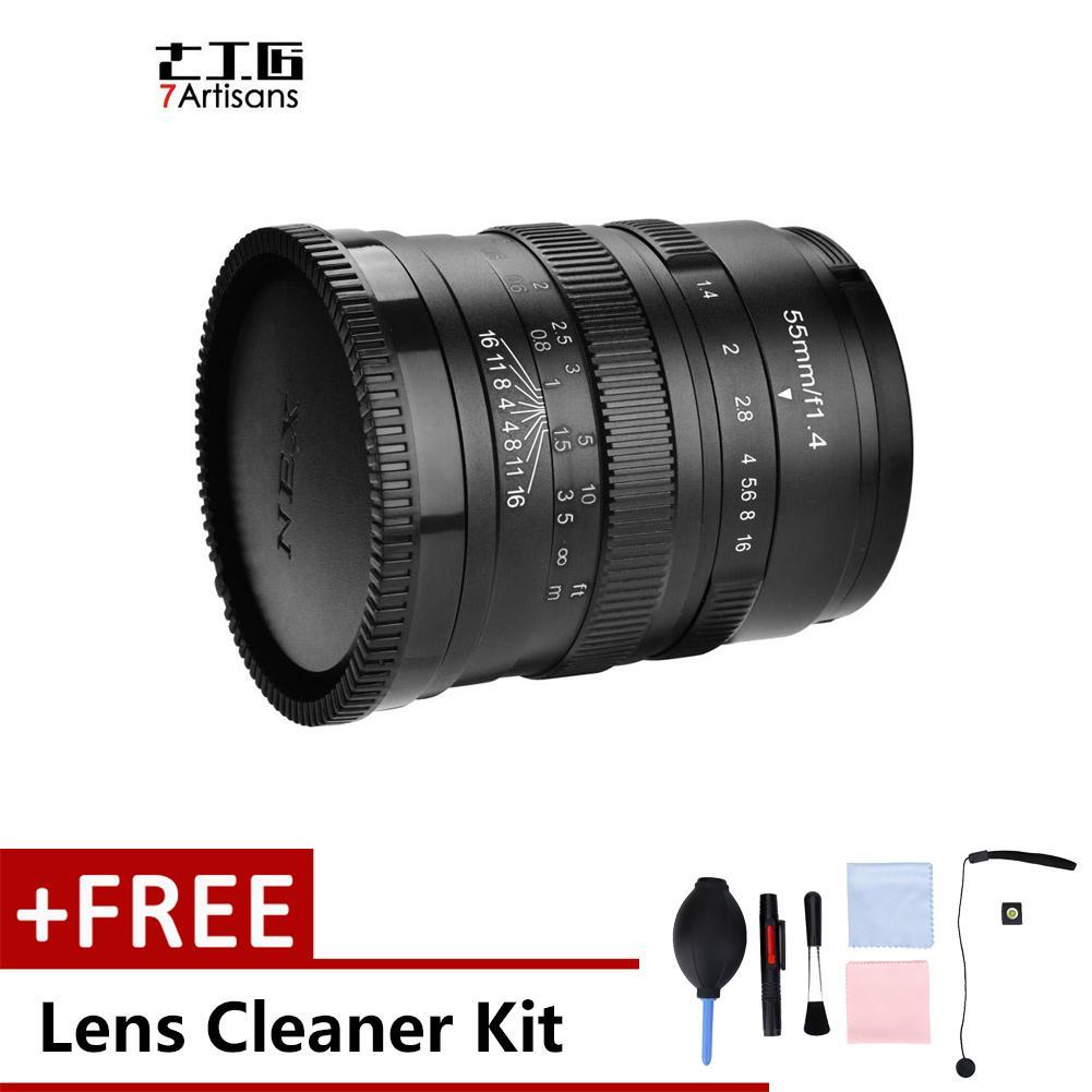 55 Mm F1.4 Apertur Manual Lensa Fokus Aksesori untuk Kamera Mirrorless (untuk Sony)-Intl