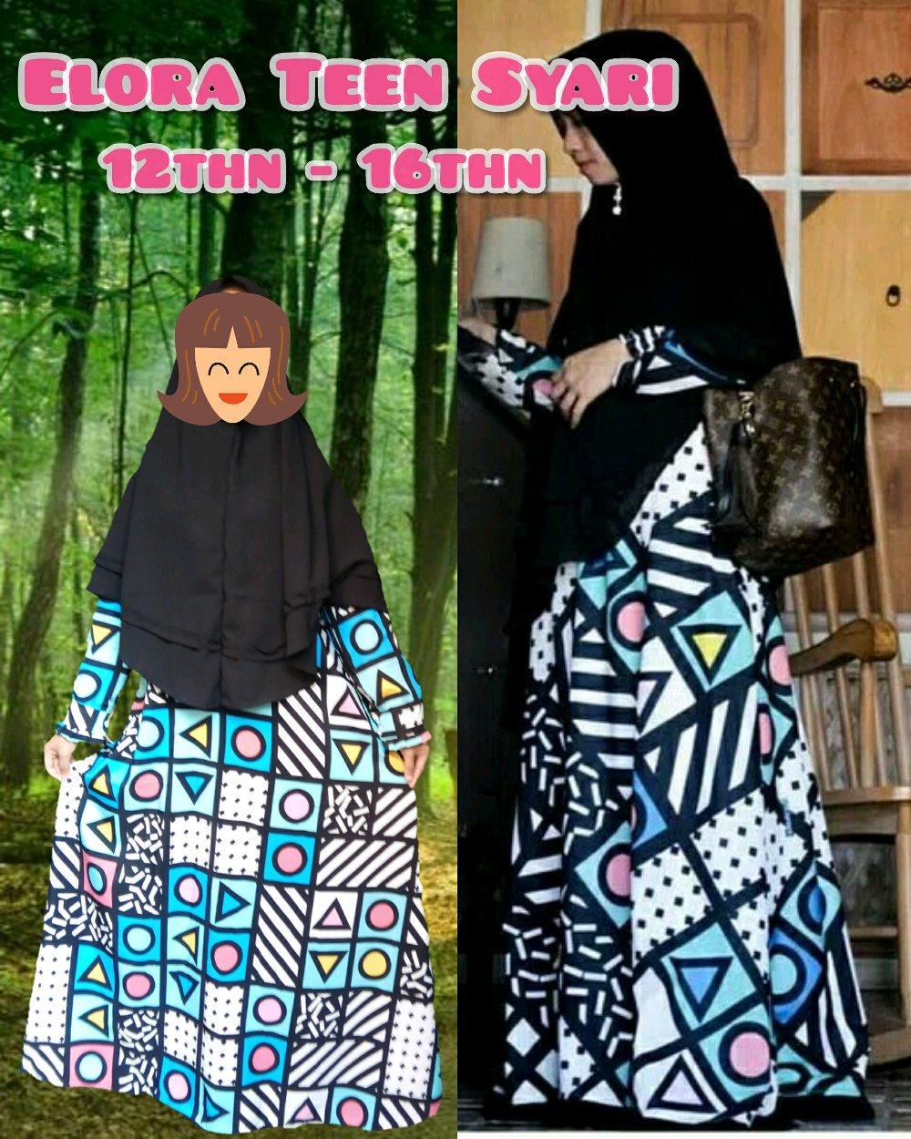 Teen Kids 10thn to 15thn Syari Gamis Maxi Dress Anak SMP SMA plus jilbab di lapak anayanda shop anayandashop
