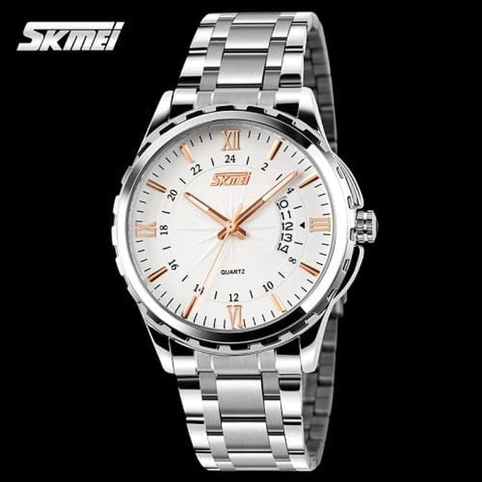 Best Seller!! Jual Jam Tangan Analog Pria Citizen sk-mei Escape Putih Emas Original - Emas - ready stock