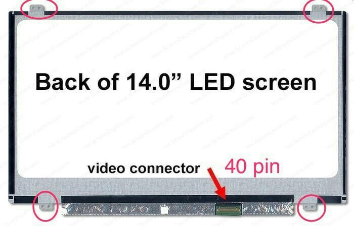 Promo Terbatas!! Lcd Led Asus X453 X453M X453Ma X453S X453Sa 14 14.0 Slim 40Pin - ready stock