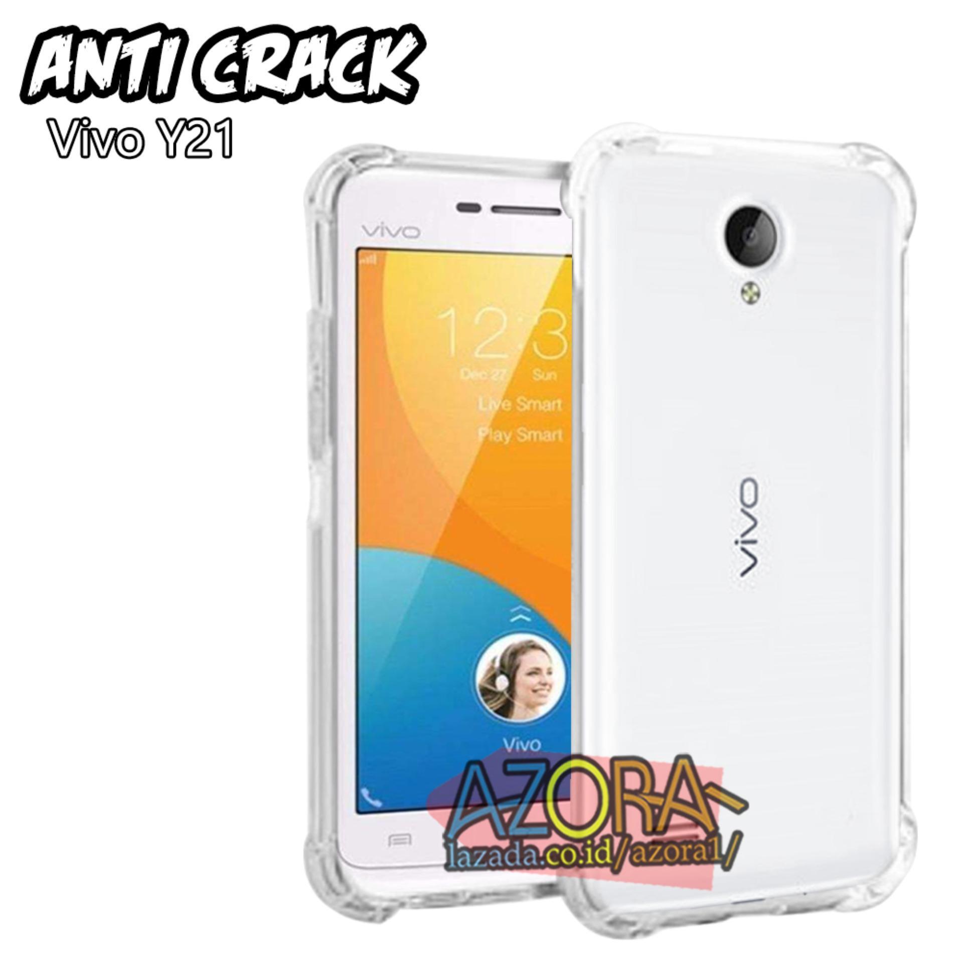 Case Anti Crack Vivo Y21 Ultra Thin Anti Shock Jelly Silikon Shockproof Softcase Azora - Bening