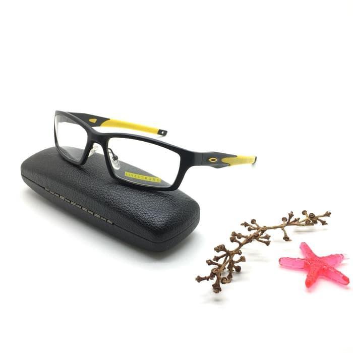 PALING LARIS Frame Kacamata Minus Oakley Crosslink Pria VR46 Hitam Kuning