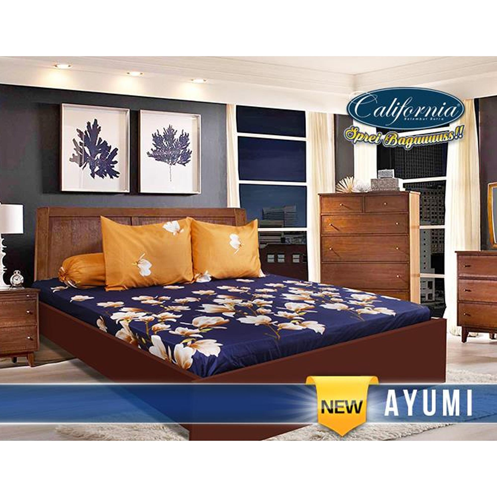 Buy Sell Cheapest California Sprei Set Best Quality Product Deals Seprei Bedcover Microtex 120x200cm Abu Ayumi