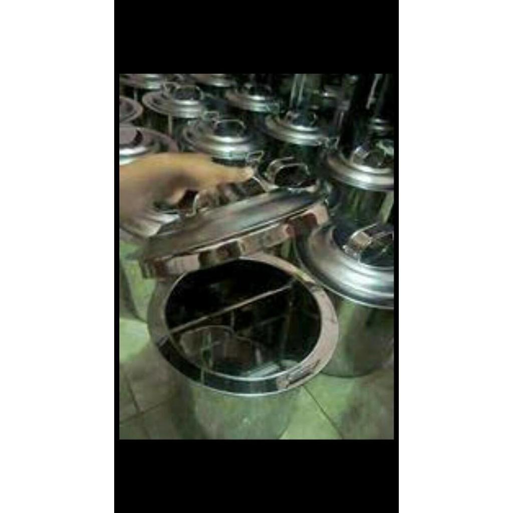 Dandang Sekat Mie Ayam 40Cm Tong Bakmi Panci Soto Sop Baso Bakso Stok Terbatas !!