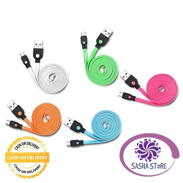 SS Kabel Data Hippo Caby 2 Micro Usb 100 cm/ Kabel Charger - PINK