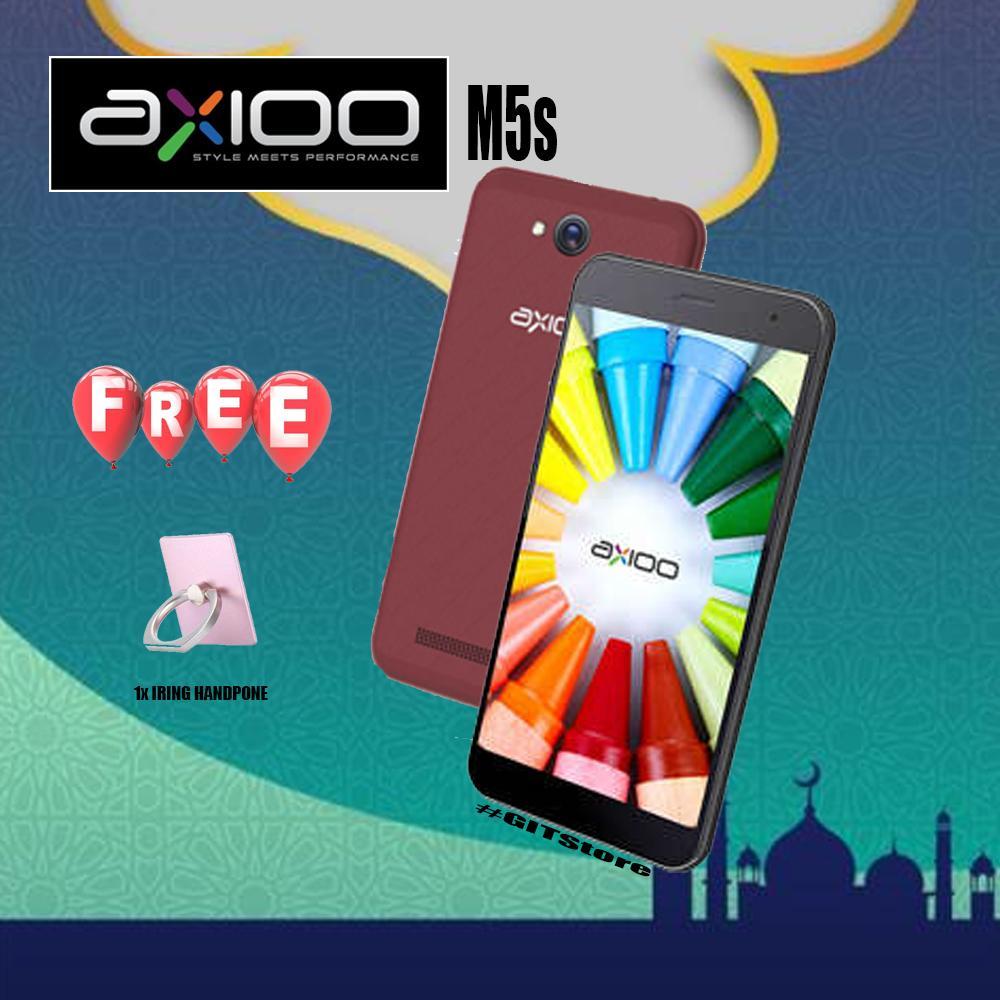 Axioo M5s Coklat Hp 4G/LTE Murah 2018 Free i-Ring
