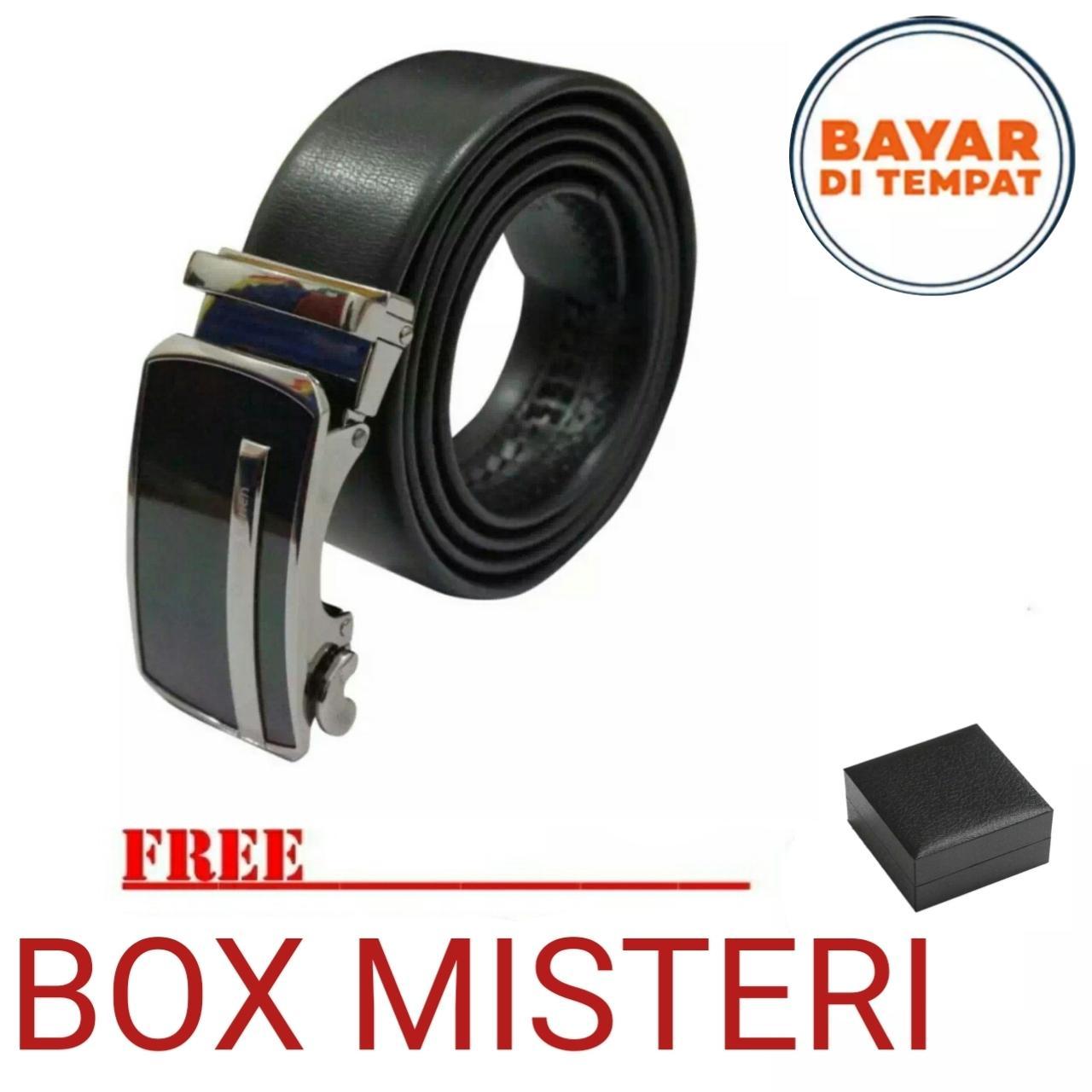 Ikat Pinggang Pria Belt Sabuk Gesper Metal Buckle Kulit imitasi PU leather  Shenkai 0001ZV Black Promo 20f1e03778