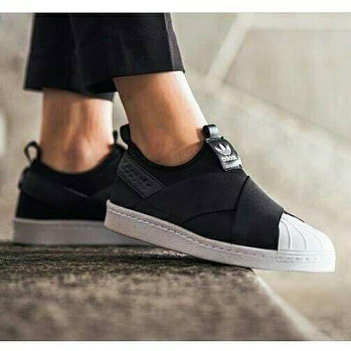 HOT SPESIAL!!! Adidas Superstar Slip On Black White - E8ojd4