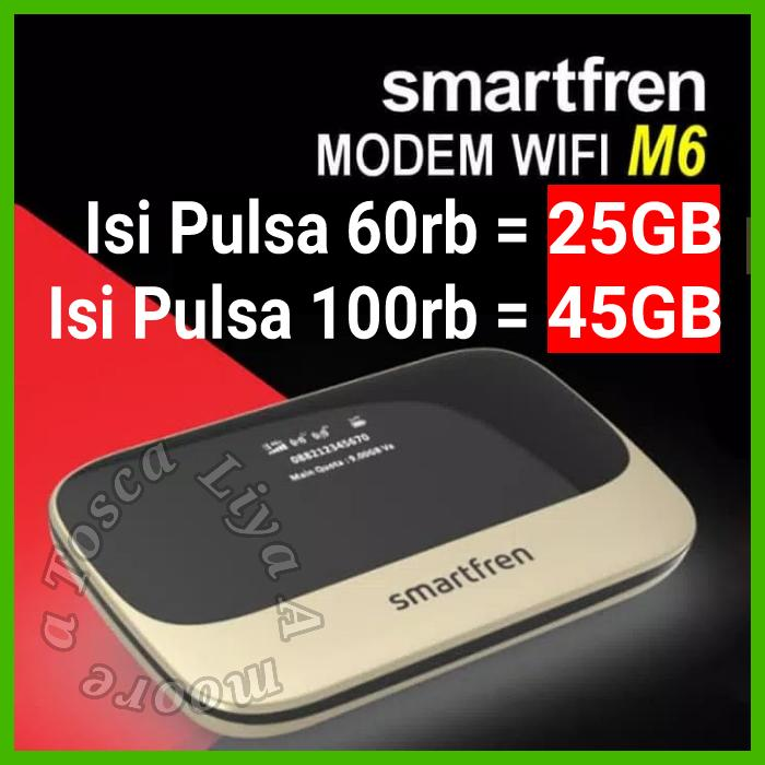 Smartfren Mifi Andromax M6 / M6x Wifi Router 4g Bisa Jadi Powerbank By One Shop Mobile.